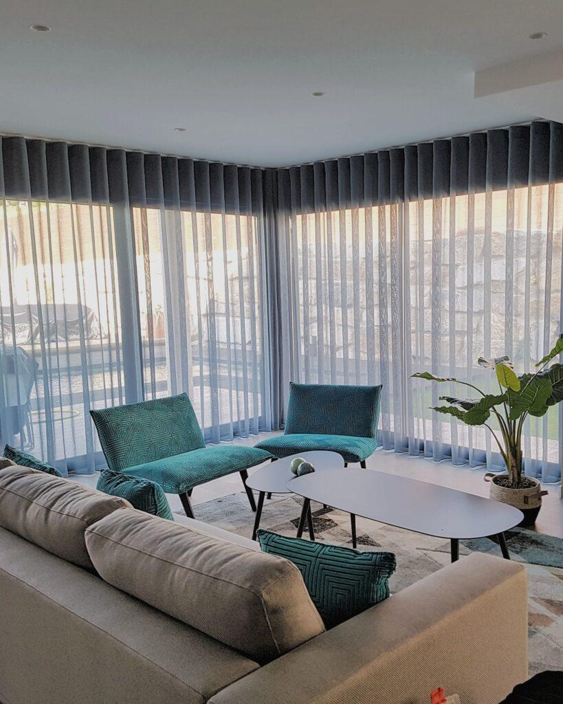 salón cortina tradicional